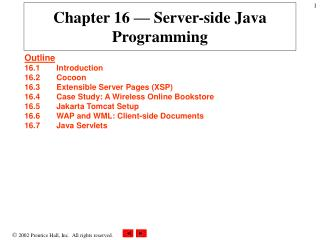 Chapter 16 — Server-side Java Programming