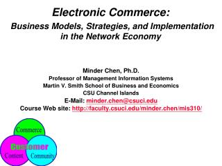 Electronic Commerce:  Business Models, Strategies, and Implementation in the Network Economy
