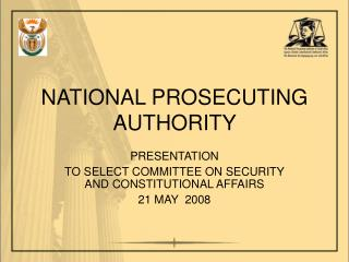 NATIONAL PROSECUTING AUTHORITY