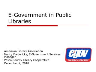 E-Government in Public Libraries