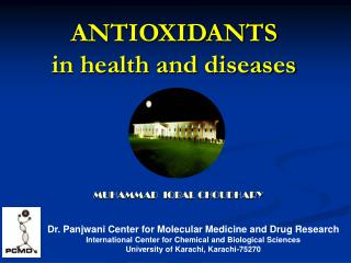 ANTIOXIDANTS in health and diseases