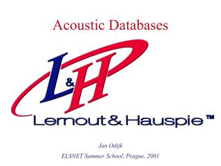 Acoustic Databases