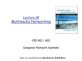 Lecture 18 Multimedia Networking