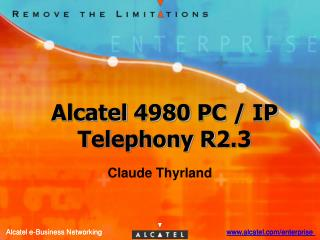 Alcatel 4980 PC / IP Telephony R2.3