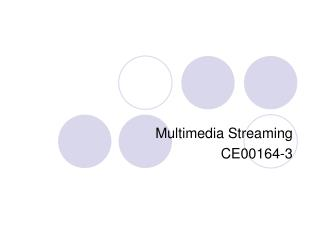 Multimedia Streaming CE00164-3
