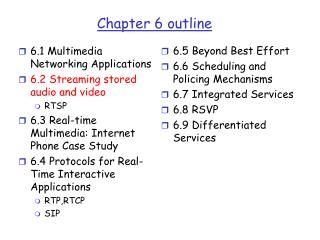 Chapter 6 outline
