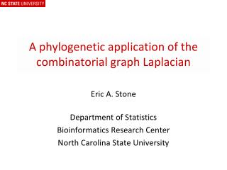 A phylogenetic application of the combinatorial graph Laplacian