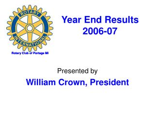 Year End Results 2006-07