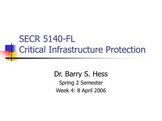 SECR 5140-FL Critical  Infrastructure Protection