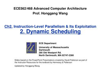 Ch2. Instruction-Level Parallelism & Its Exploitation  2. Dynamic Scheduling