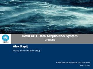 Devil XBT Data Acquisition System UPDATE