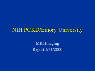 NIH PCKD/Emory University