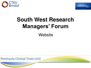South West Research Managers' Forum