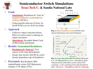 Semiconductor Switch Simulations Texas Tech U.  & Sandia National Labs