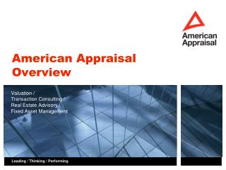 American Appraisal Overview