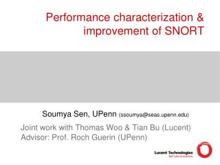 Performance characterization & improvement of SNORT