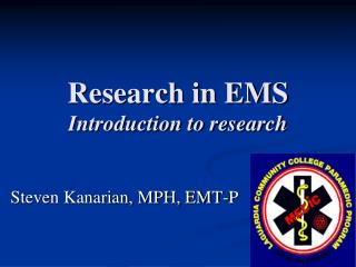 Research in EMS Introduction to research