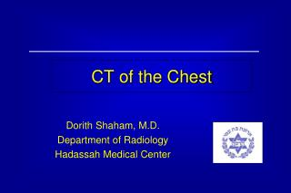 CT of the Chest