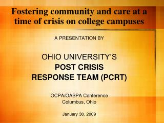 Fostering community and care at a time of crisis on college campuses