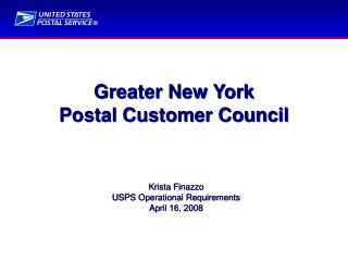 Greater New York  Postal Customer Council