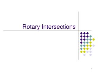Rotary Intersections