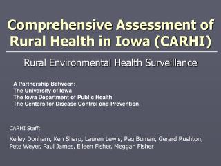 Comprehensive Assessment of Rural Health in Iowa (CARHI)