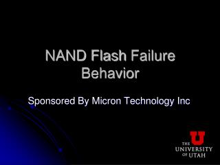 NAND Flash  Failure Behavior