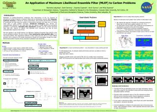 An Application of Maximum Likelihood Ensemble Filter (MLEF) to Carbon Problems