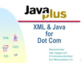 XML & Java  for  Dot Com