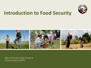 Introduction to Food Security