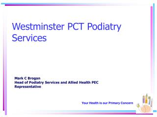 Westminster PCT Podiatry Services