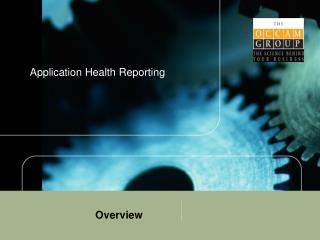 Application Health Reporting