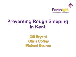 Preventing Rough Sleeping in Kent