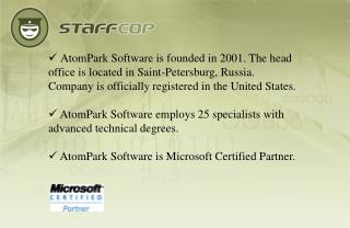 AtomPark Software develops software for Internet marketing and corporate security.