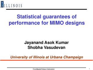 Statistical guarantees of performance for MIMO designs