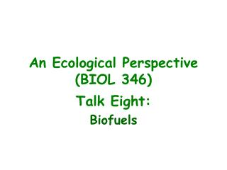 An Ecological Perspective (BIOL 346)
