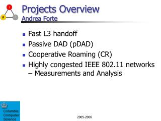 Projects Overview  Andrea Forte