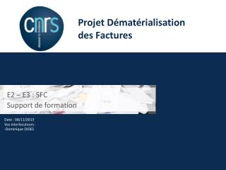 E2 – E3 : SFC Support de formation