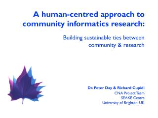 A human-centred approach to community informatics research: