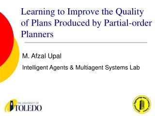 Learning to Improve the Quality of Plans Produced by Partial-order Planners