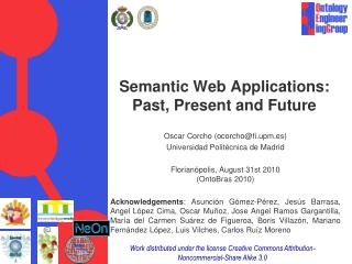 Semantic Web Applications:  Past, Present and Future