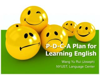 P-D-C-A Plan for  Learning English