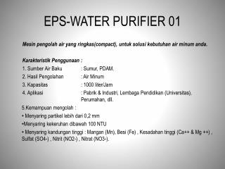 EPS-WATER PURIFIER 01