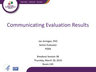 Communicating Evaluation Results