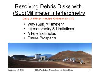 Resolving Debris Disks with  (Sub)Millimeter Interferometry