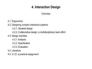 4. Interaction Design Overview