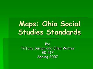 Maps: Ohio Social Studies Standards
