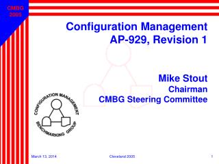 Configuration Management  AP-929, Revision 1 Mike Stout Chairman CMBG Steering Committee