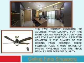 Ceiling Fans Singapore