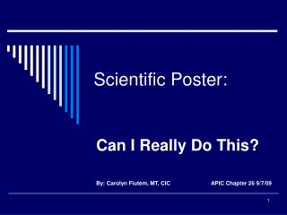 Scientific Poster: